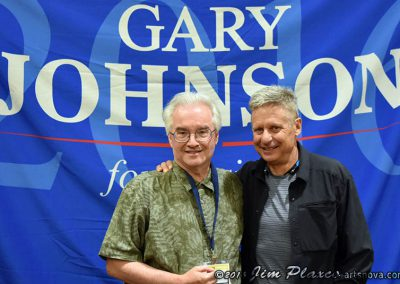 Gary Johnson and CSSS President Jim Plaxco at the Libertarian National Convention
