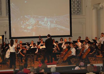 The Blast Off concert underway - performed by the Music Institute of Chicago Orchestra - Sept. 2007