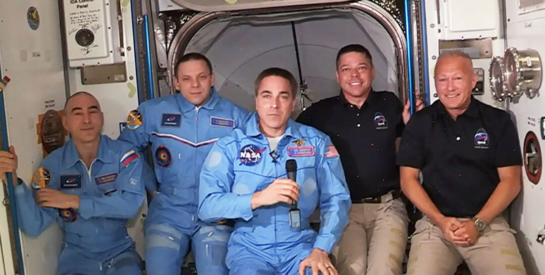 NASA astronauts Robert Behnken and Douglas Hurley arrived at the International Space Station on Sunday aboard the first commercially built and operated American spacecraft to carry humans to orbit, opening a new era in human spaceflight. Source: NASA