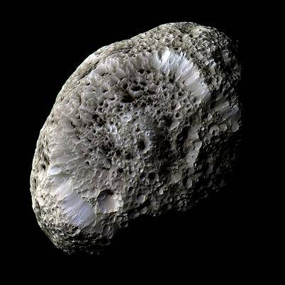 Figure 7. Cassini images Hyperion, only 223 miles in its greatest dimension