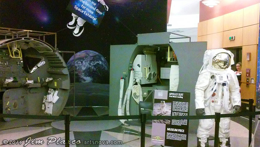 The Apollo Space Program Exhibit at the Gail Borden Public Library, Elgin IL