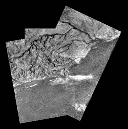 Figure 8. Image of Titan's surface as captured by the Huygens probe while descending to the surface