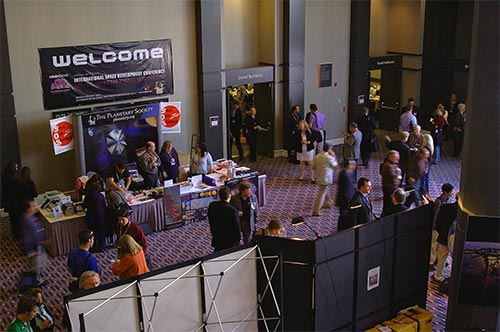 Figure 1. One of three exhibit areas at the 2006 NSS ISDC