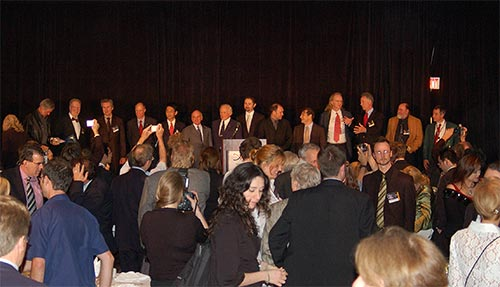 Figure 6. Winners of the Space Tourism Society's Orbit Awards assembled